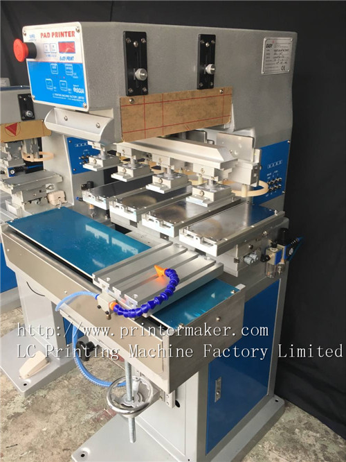 Economy 4 Color Pad Printing Machine with 4 Position Pneumatic Shuttle