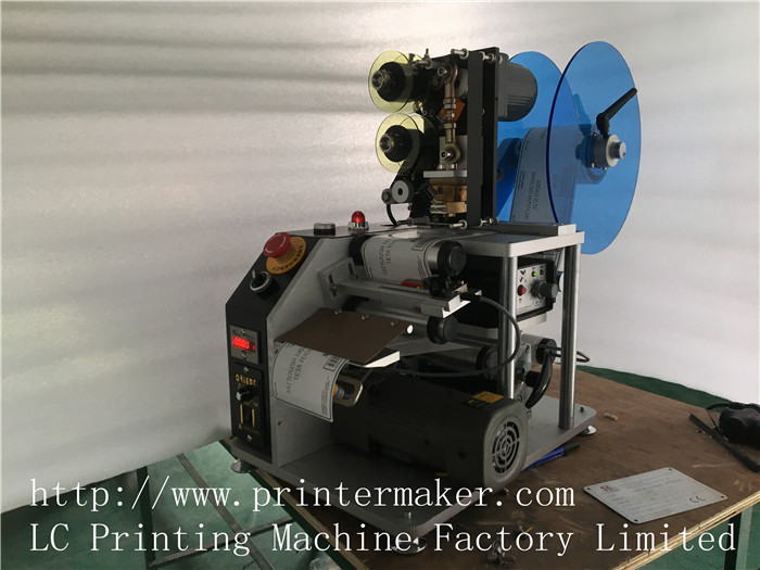 Automatic Label Dispenser with Coding Machine