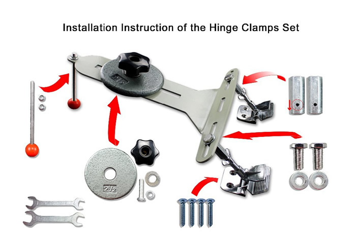 Screen Printing Set With Hinge Clamps