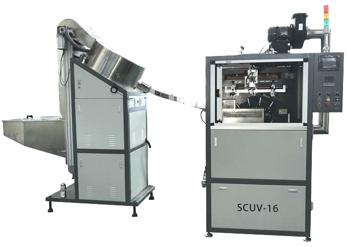 High Speed Automatic Screen Printing Machine for small round bottles and caps
