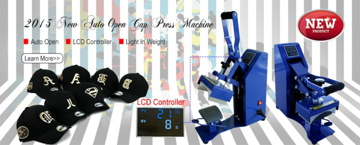 Auto Open Cap Heat Press Machine