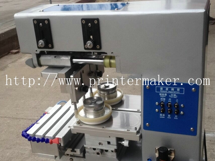 Economic Tabletop 2 Color Ink Cup Pad Printing Machine