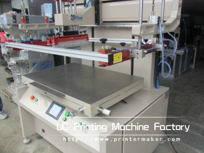 Fully Electric Driven Flat Bed Screen Printer With PLC Control and Servo Motor