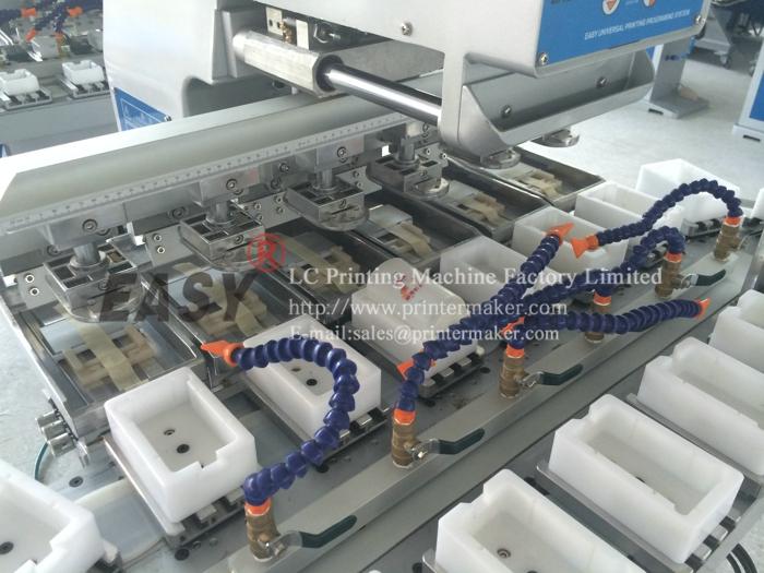 Six Color Pad Printer With Conveyor