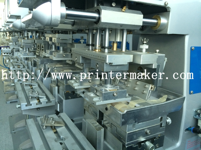 One Color Pad Printing Machine with Two Heads for Large Images
