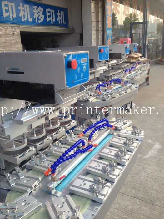 Economy 4 Color Ink Cup Pad Printing Machine with Carouse
