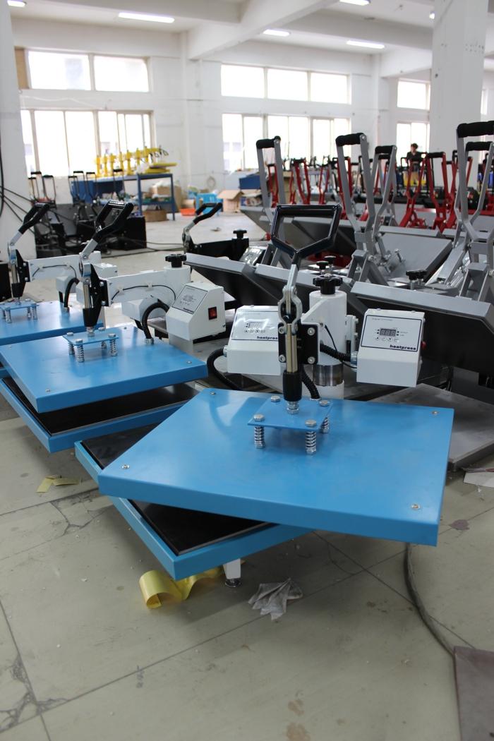 Double Heating Plates Heat Press Machine
