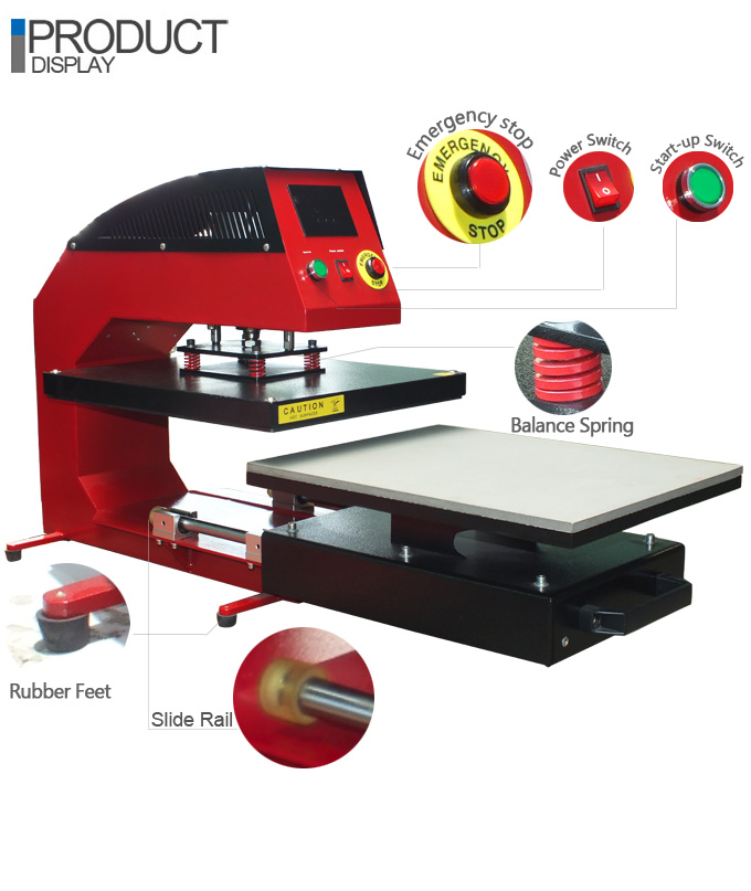 Pneumatic Draw Out Heat Press Machine
