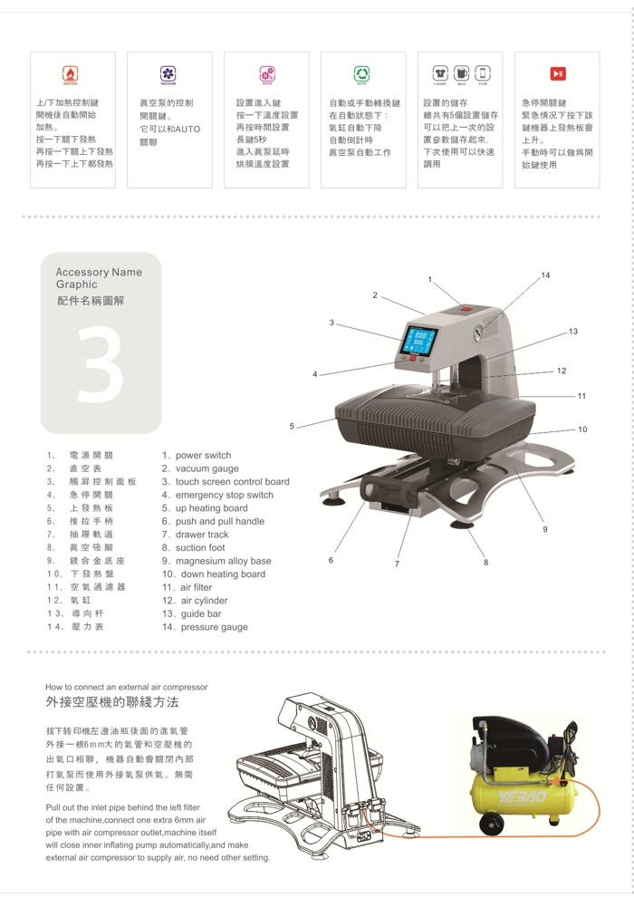 Multifunction 3D Sublimation Vacuum Heat Press Machine
