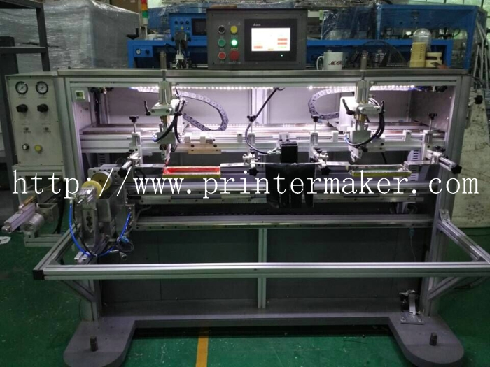 2 Colors Mugs Automatic Silk Screen Printing Machine with LED UV Curing System