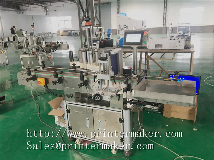 Bottles Automatic Labeling Machine with Barcode Printer