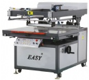 Tilted-arm Flat Bed Screen Printer with Vaccum Table