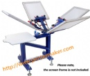 4 Color 1 Station Press Printer with Metal Stand
