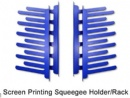 Screen Printing Squeegee Holder Rack