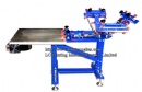 3 Color 1 Station Screen Printing Press With Stainless Steel Vacuum Pallet